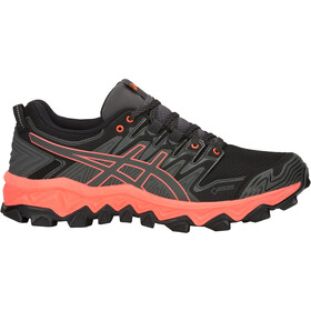 asics W's Gel-FujiTrabuco 7 G-TX Shoes Dark Grey/Flash Coral